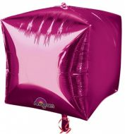 Cube Bright Pink Balloon