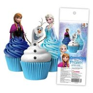 Frozen Wafer Cupcake Toppers