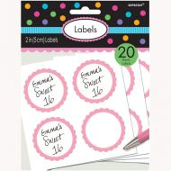 Labels Scalloped Light Pink