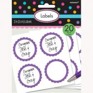 Labels Scalloped Purple
