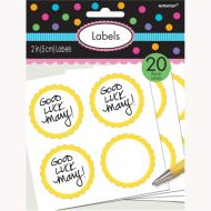 Labels Scalloped Yellow